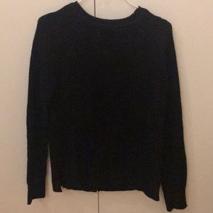 Zara black knit sweater with back buttons
